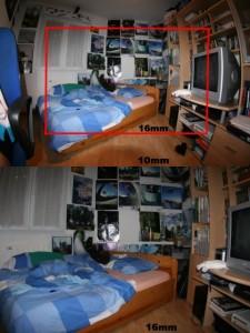 Voici la différence entre un angle dit normal et un grand angle type fisheye